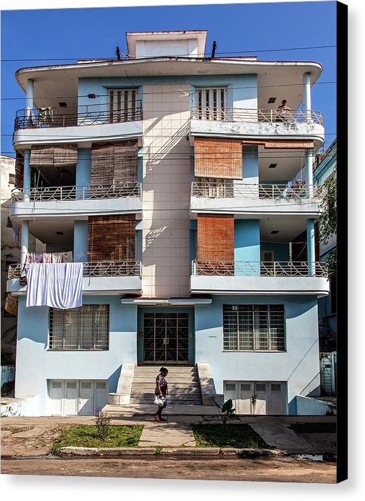 Havana Cuba Apartment Building - Canvas Print