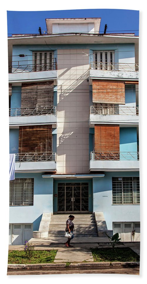 Havana Cuba Apartment Building - Beach Towel