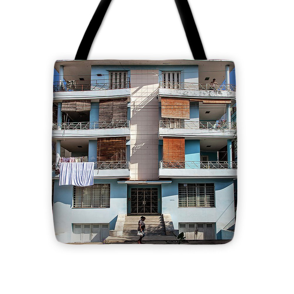 Havana Cuba Apartment Building - Tote Bag