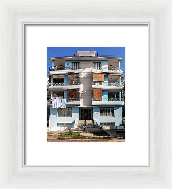 Havana Cuba Apartment Building - Framed Print