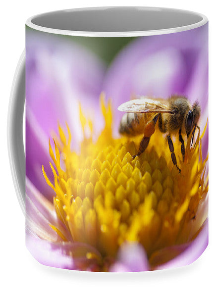 Honeybee On A Dahlia Flower - Mug