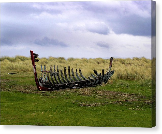 Irish Wreck Fermoyle County Kerry - Canvas Print