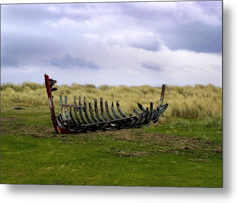 Irish Wreck Fermoyle County Kerry - Metal Print