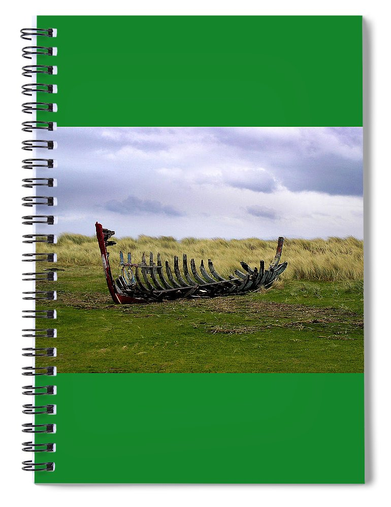 Irish Wreck Fermoyle County Kerry - Spiral Notebook