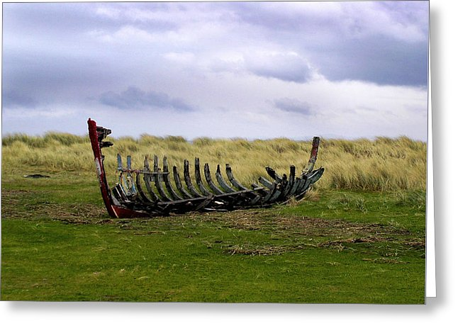 Irish Wreck Fermoyle County Kerry - Greeting Card
