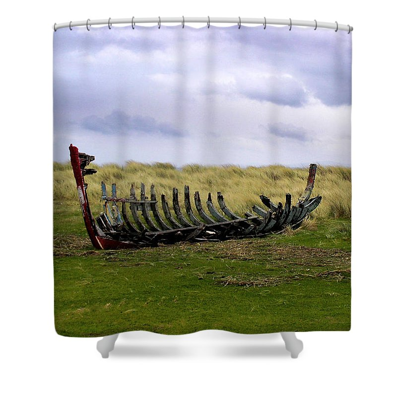 Irish Wreck Fermoyle County Kerry - Shower Curtain