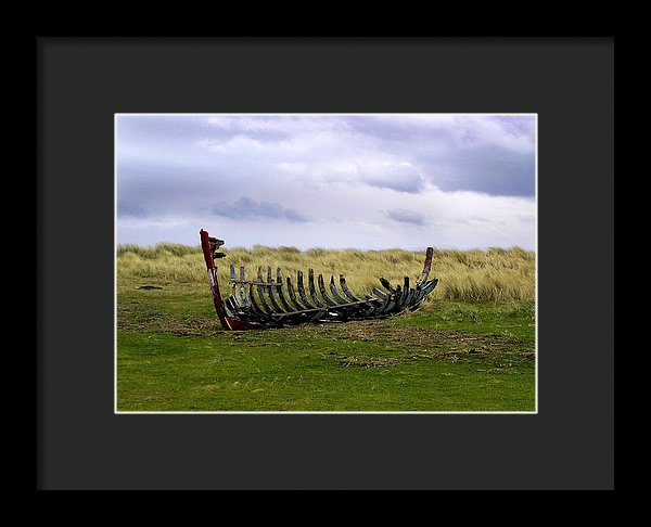 Irish Wreck Fermoyle County Kerry - Framed Print