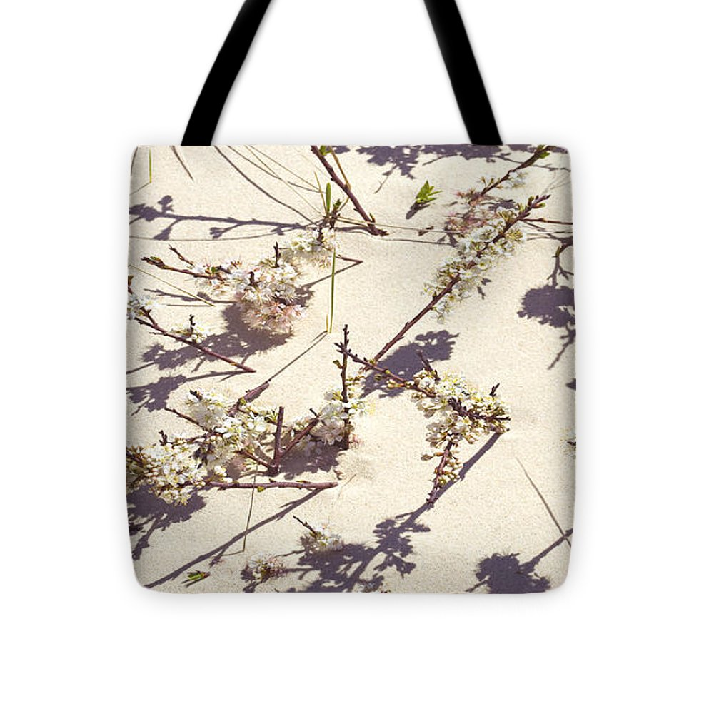 Tashmoo Sand Dune With Blossoms - Tote Bag