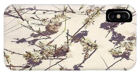 Tashmoo Sand Dune With Blossoms - Phone Case