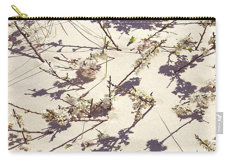Tashmoo Sand Dune With Blossoms - Carry-All Pouch