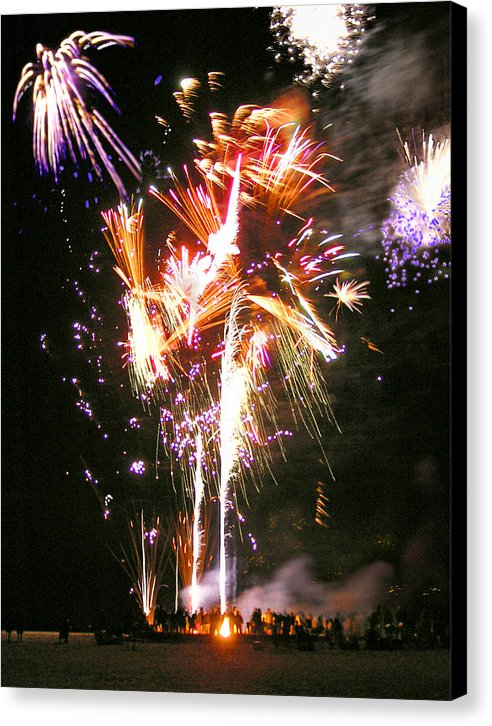 Joe's Fireworks Party At The West Bar Sandy Neck - Canvas Print