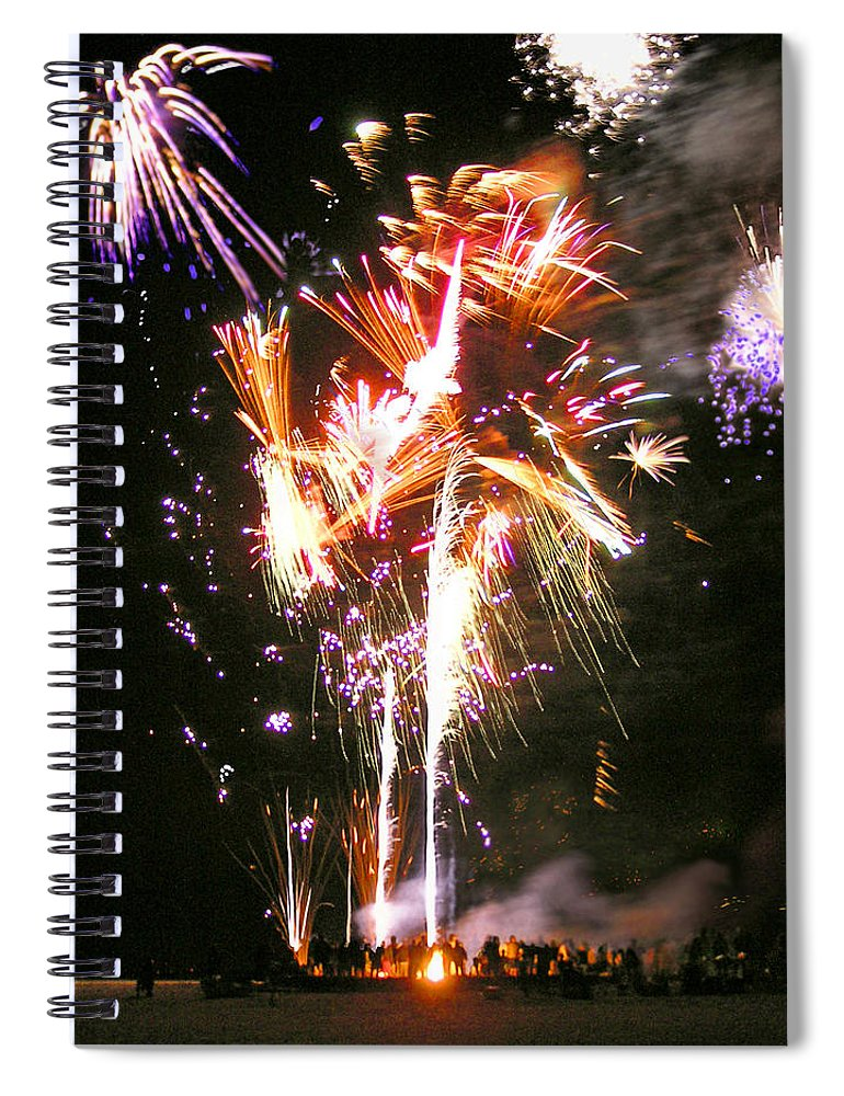 Joe's Fireworks Party At The West Bar Sandy Neck - Spiral Notebook