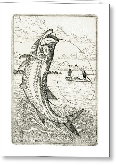 Leaping Tarpon - Greeting Card