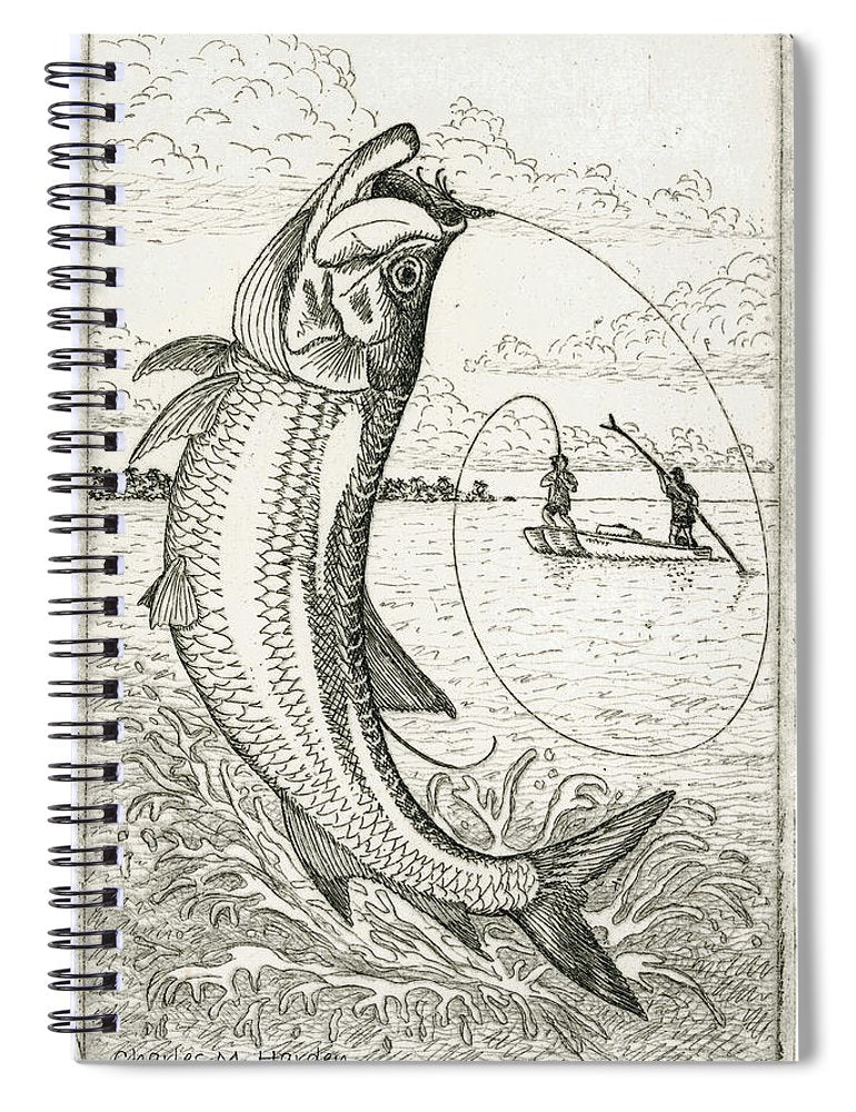 Leaping Tarpon - Spiral Notebook