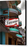 Licorama Bar Liquor Store In Havana Cuba At Calle 6 - Canvas Print