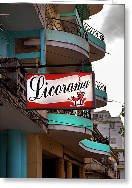 Licorama Bar Liquor Store In Havana Cuba At Calle 6 - Greeting Card