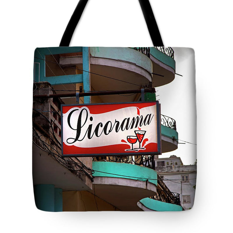 Licorama Bar Liquor Store In Havana Cuba At Calle 6 - Tote Bag