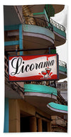 Licorama Bar Liquor Store In Havana Cuba At Calle 6 - Beach Towel