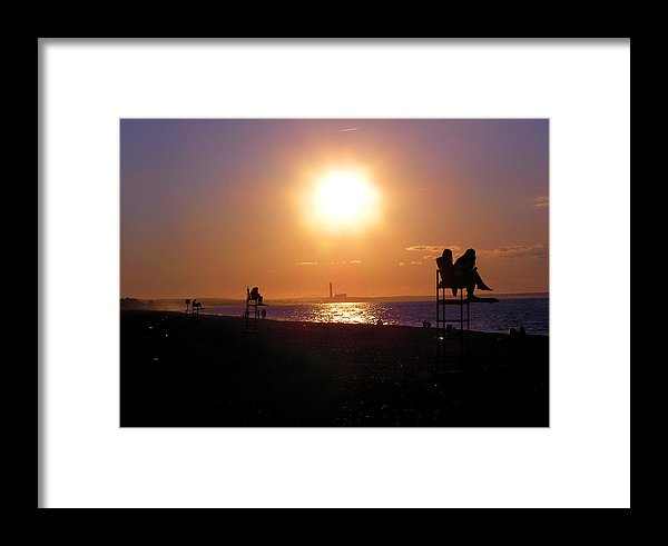 Lifeguard Chairs - Framed Print