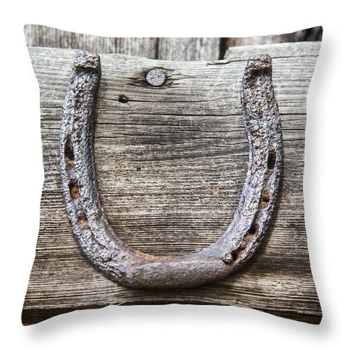 Lucky Horseshoe - Throw Pillow