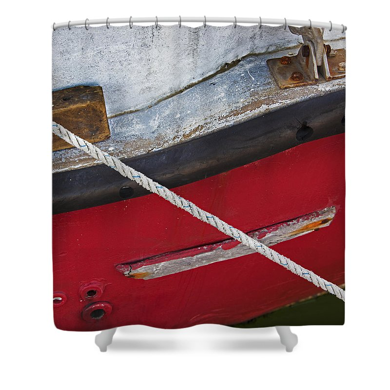 Marine Abstract - Shower Curtain