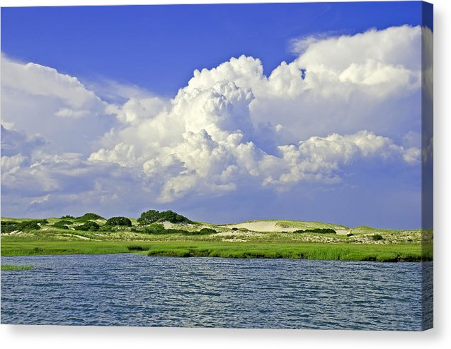 Marsh And Dunes And Clouds - Canvas Print