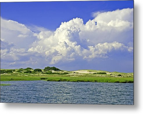 Marsh And Dunes And Clouds - Metal Print