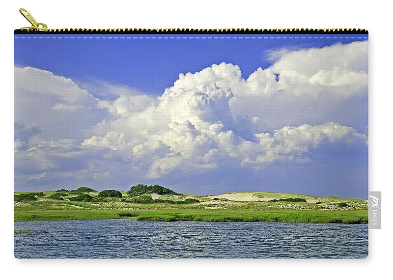 Marsh And Dunes And Clouds - Carry-All Pouch