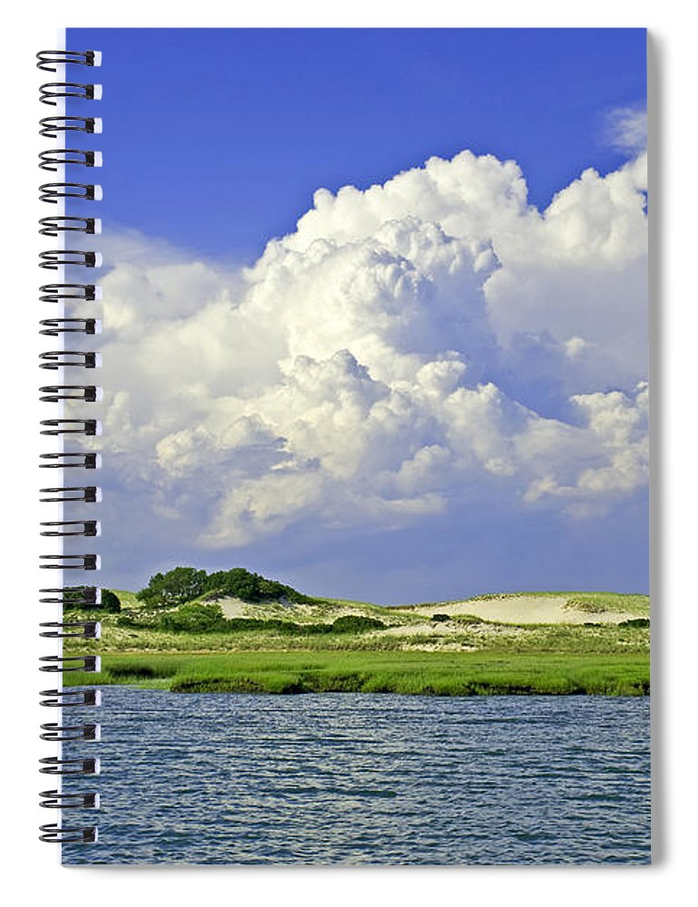 Marsh And Dunes And Clouds - Spiral Notebook