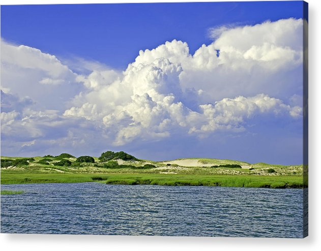 Marsh And Dunes And Clouds - Acrylic Print
