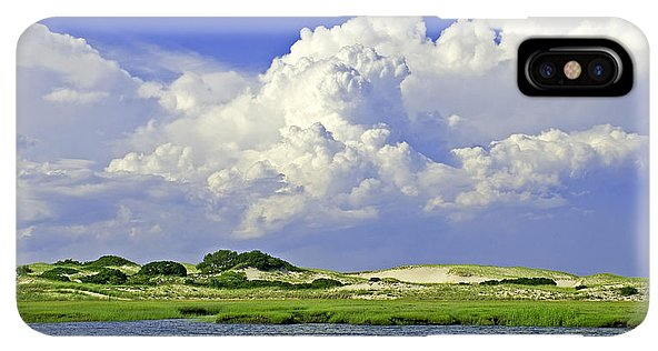 Marsh And Dunes And Clouds - Phone Case