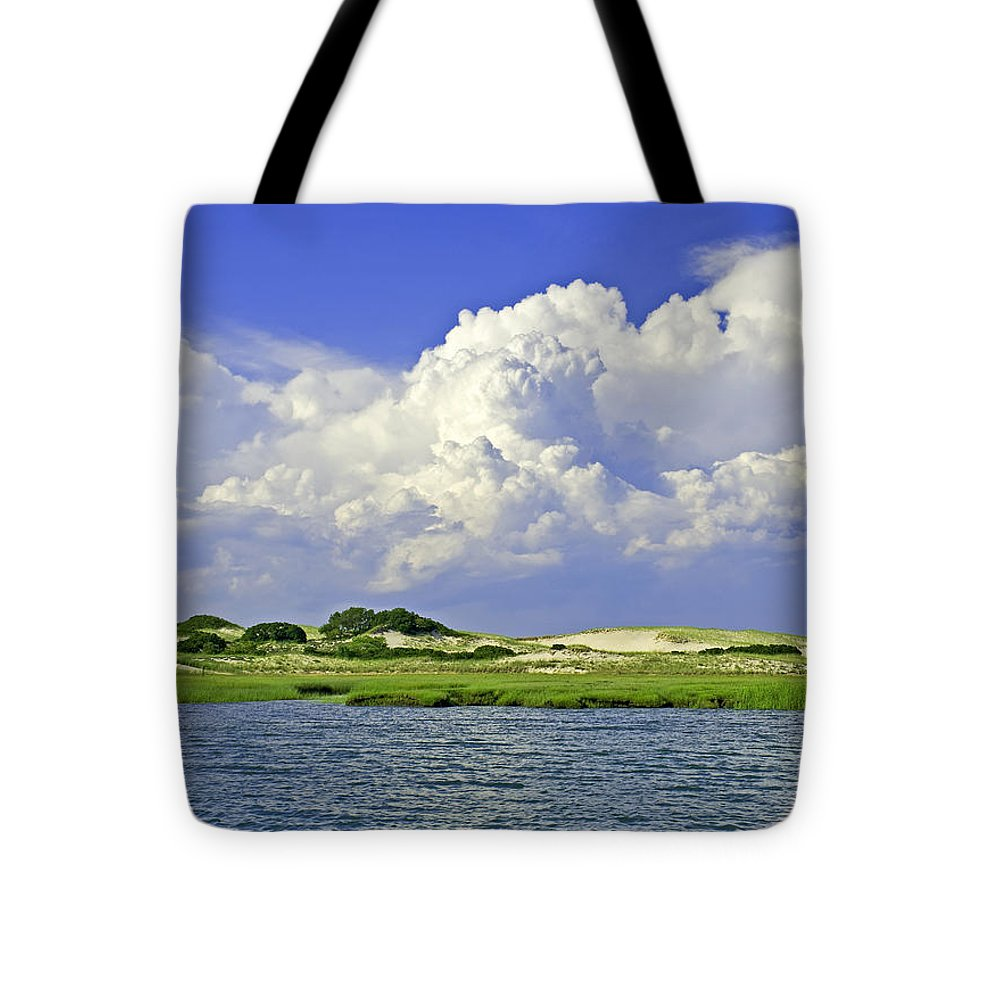 Marsh And Dunes And Clouds - Tote Bag