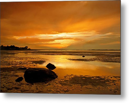 Millway Beach Sunset Barnstable - Metal Print