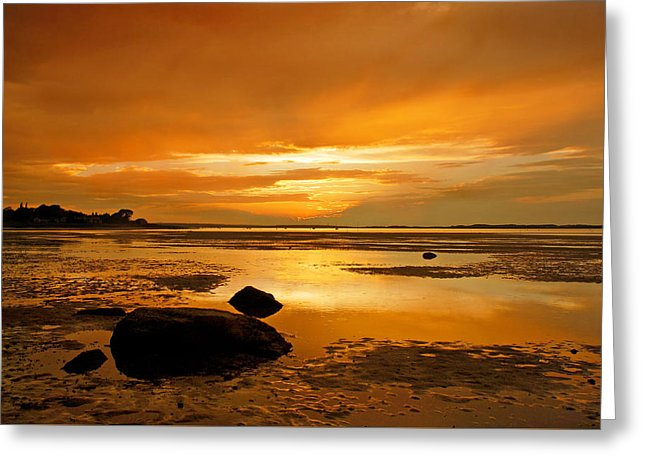Millway Beach Sunset Barnstable - Greeting Card