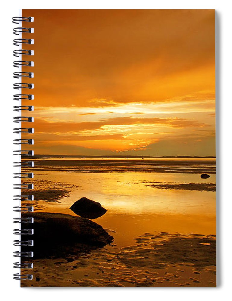 Millway Beach Sunset Barnstable - Spiral Notebook