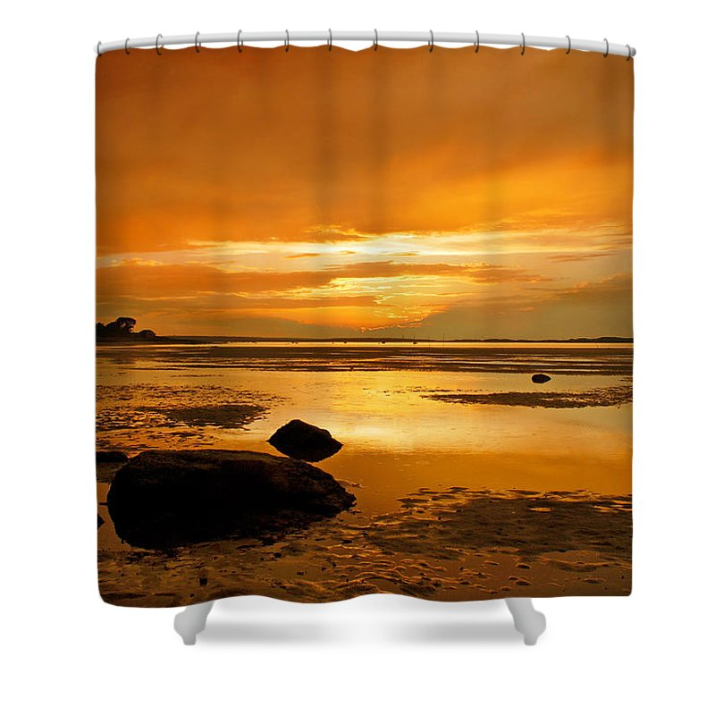 Millway Beach Sunset Barnstable - Shower Curtain