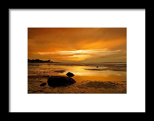 Millway Beach Sunset Barnstable - Framed Print