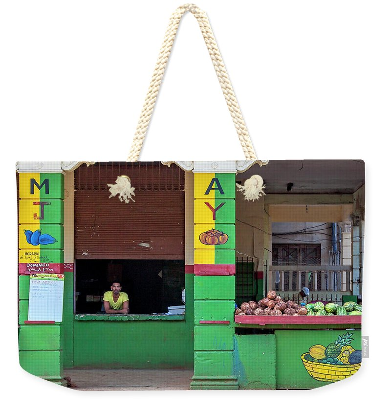 Mjay Fruit Stand Havana Cuba - Weekender Tote Bag