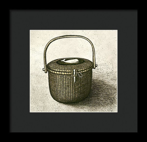 Nantucket Basket - Framed Print