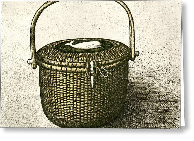 Nantucket Basket - Greeting Card