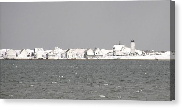Nor'easter Blizzard Hits Sandy Neck - Canvas Print