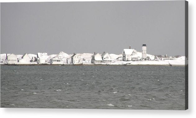 Nor'easter Blizzard Hits Sandy Neck - Acrylic Print