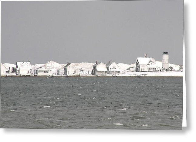 Nor'easter Blizzard Hits Sandy Neck - Greeting Card