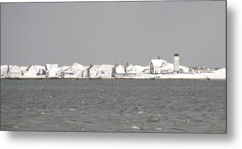 Nor'easter Blizzard Hits Sandy Neck - Metal Print