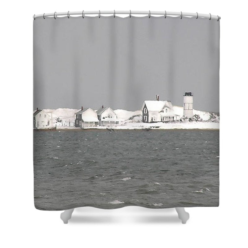 Nor'easter Blizzard Hits Sandy Neck - Shower Curtain