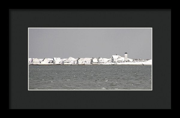 Nor'easter Blizzard Hits Sandy Neck - Framed Print