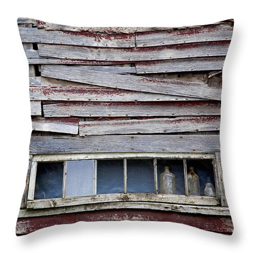 Old Bottles - Throw Pillow