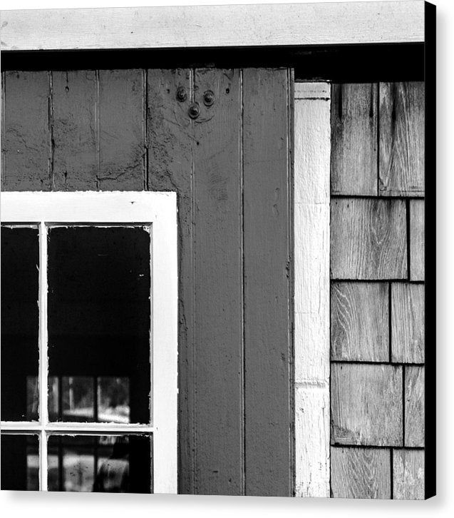 Old Door In Black And White - Canvas Print