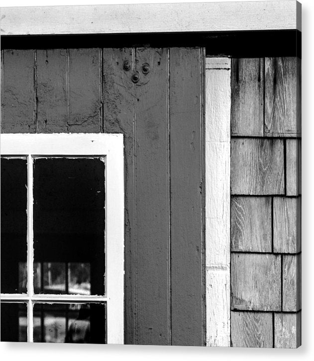 Old Door In Black And White - Acrylic Print