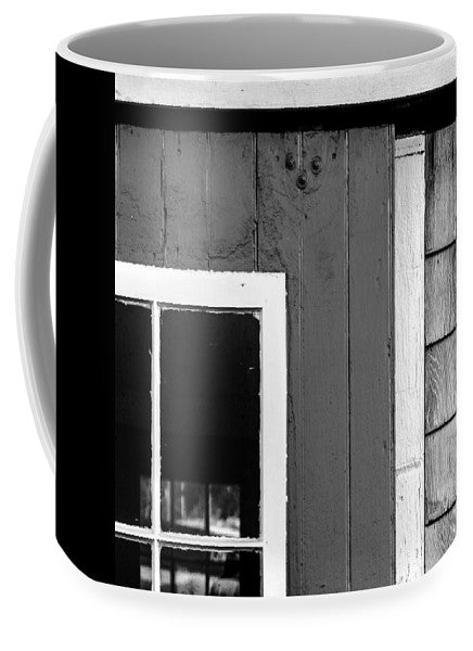 Old Door In Black And White - Mug